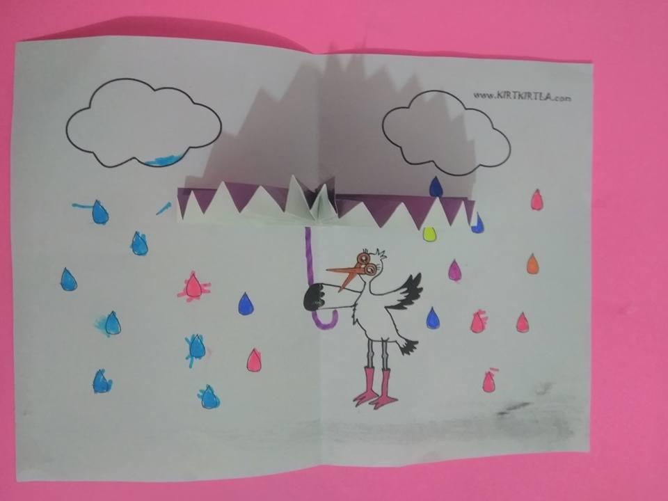 şemsiye Etkinliğiokul öncesicraft Okul öncesi Etkinlik Kırtkırtla