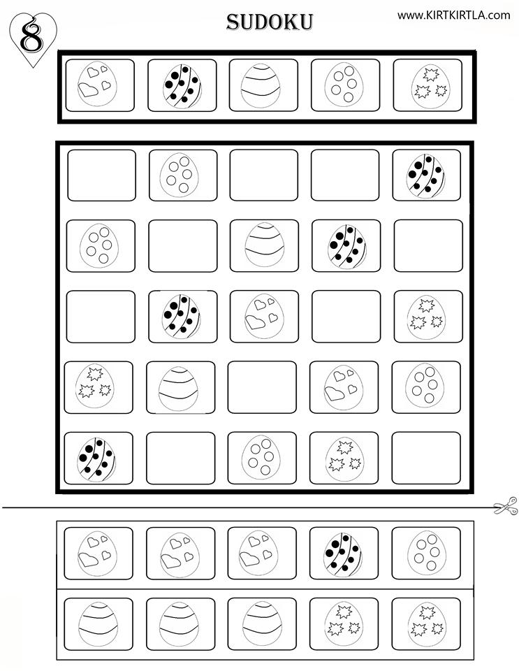 Sudoku 8 Okul Oncesi Okuma Yazmaya Hazirlik Calisma Sayfalari