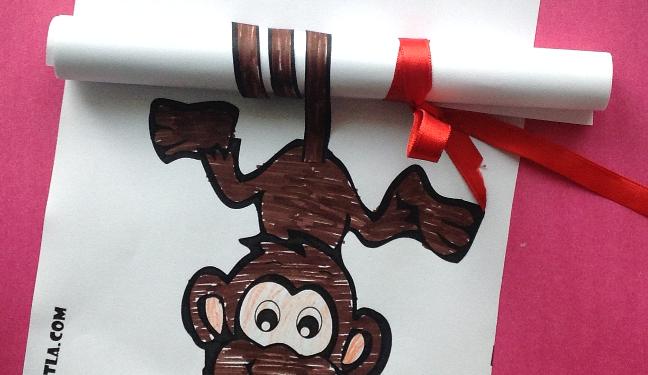 Maymun Gelişim Dosyası Boyama Boyama Sayfası Okul öncesi Etkinlik