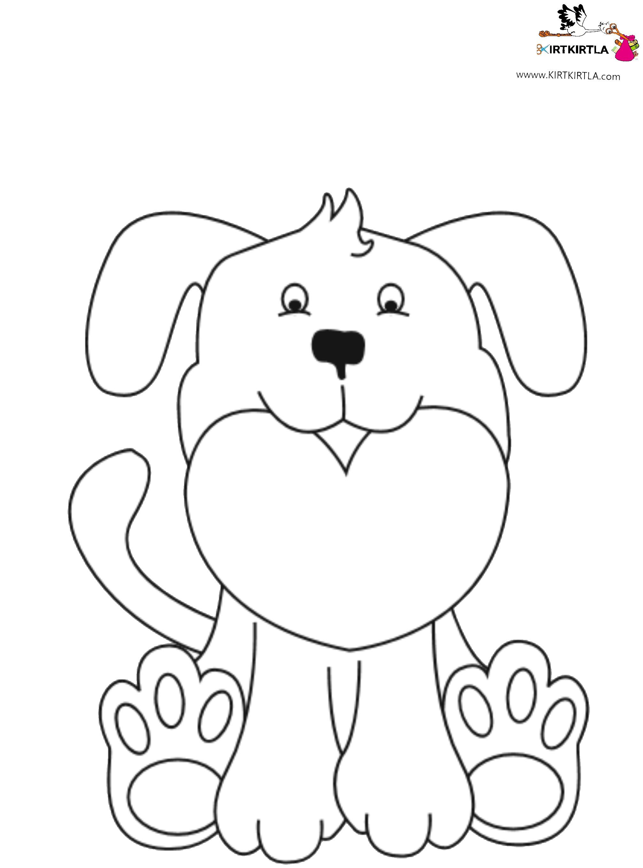 Köpek Boyama Sayfasi Kirtkirtlacom