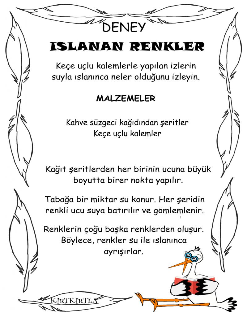 ISLANAN RENKLER BİLGİ SAYFASI _KIRTKIRTLA