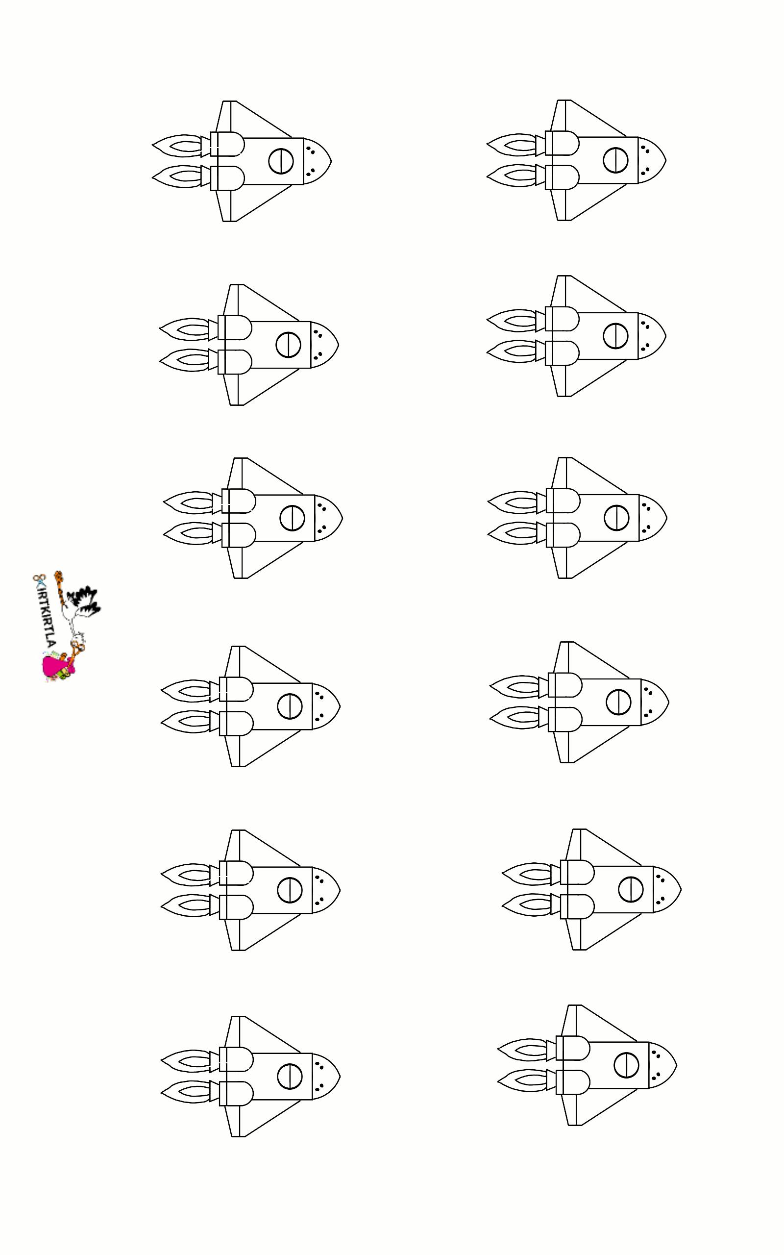 Mini Roket Okul öncesi Etkinlik Kirtkirtla
