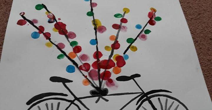 Bisiklet Parmak Baski çak Bir Etkinlik Kirtkirtla