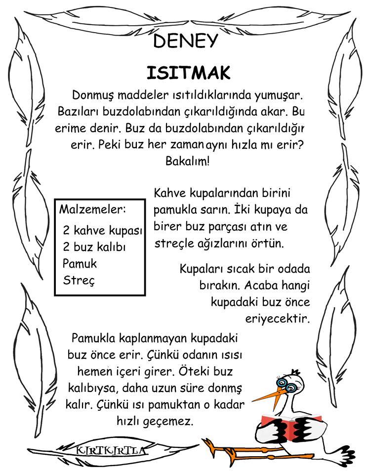 ISITMAK DENEYİ BİLGİ SAYFASI_ KIRTKIRTLA