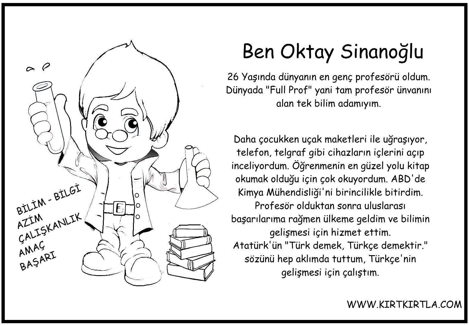 Oktay Sinanoğlu Boyama Ve Bilgi Sayfasi Kirtkirtla