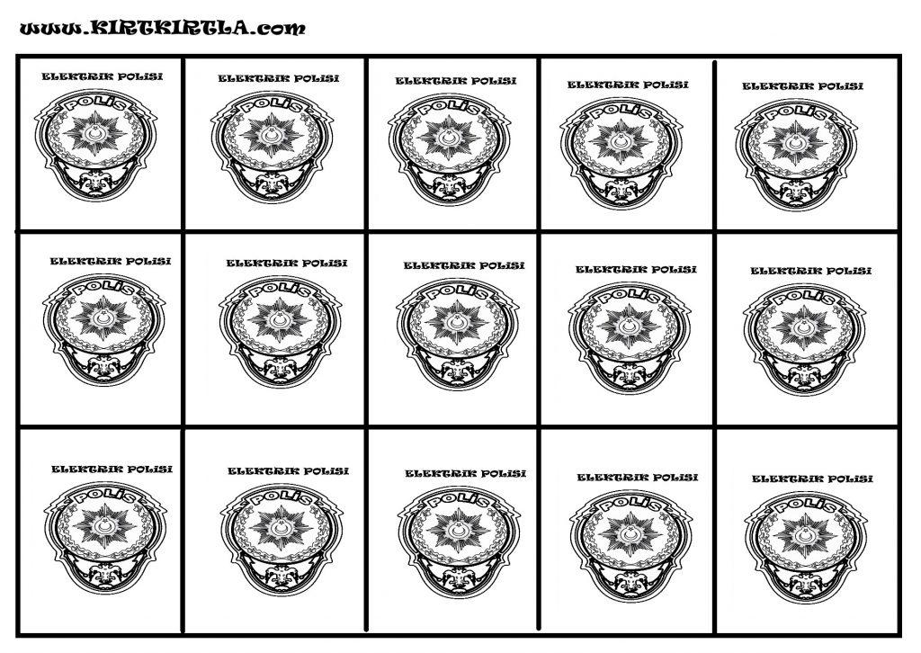 POLİS YAKA KARTI-OKUL ÖNCESİ ETKİNLİK