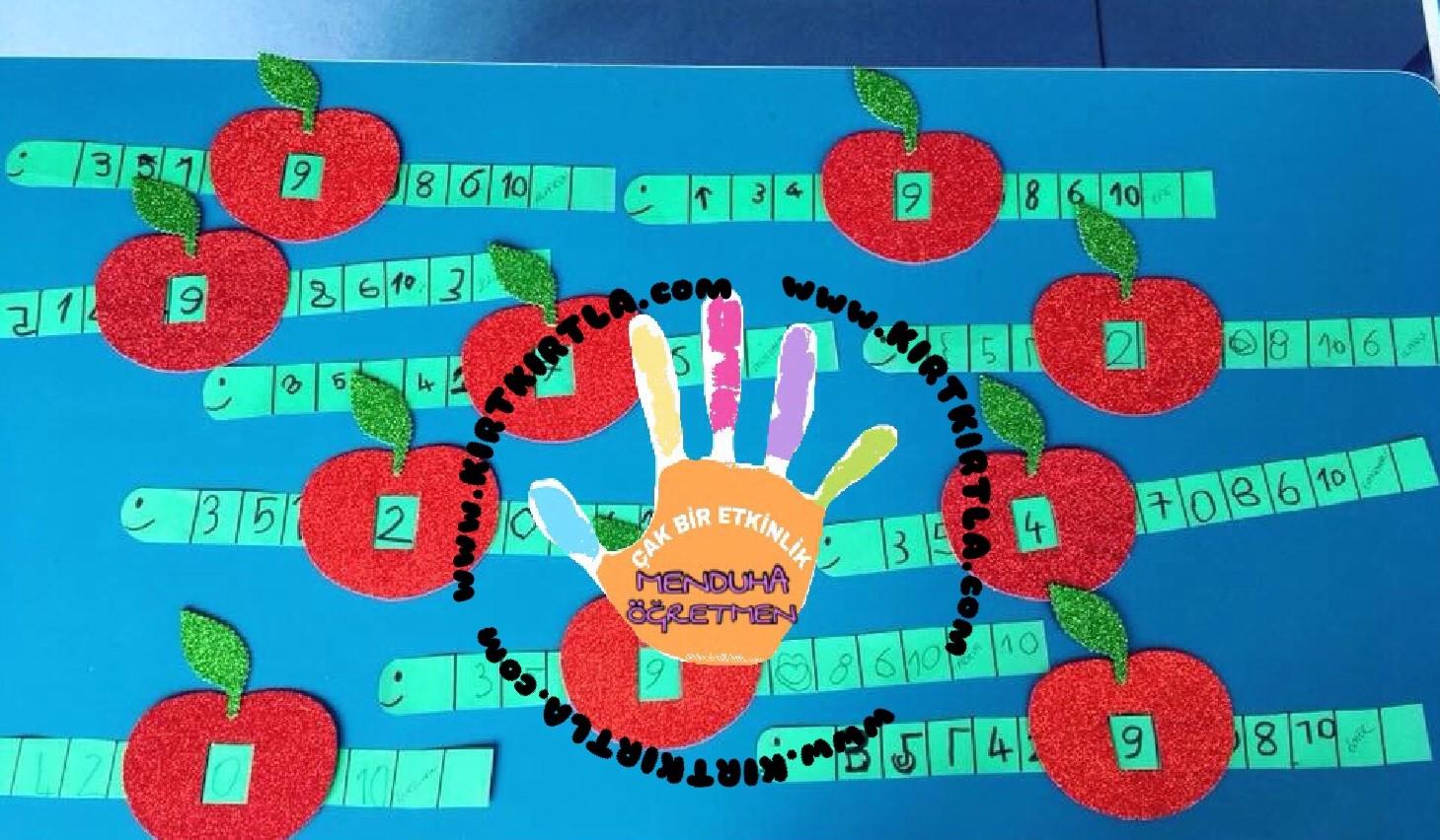 Elma Kurdu Sayilar Okul Oncesi Etkinlik Kirtkirtla