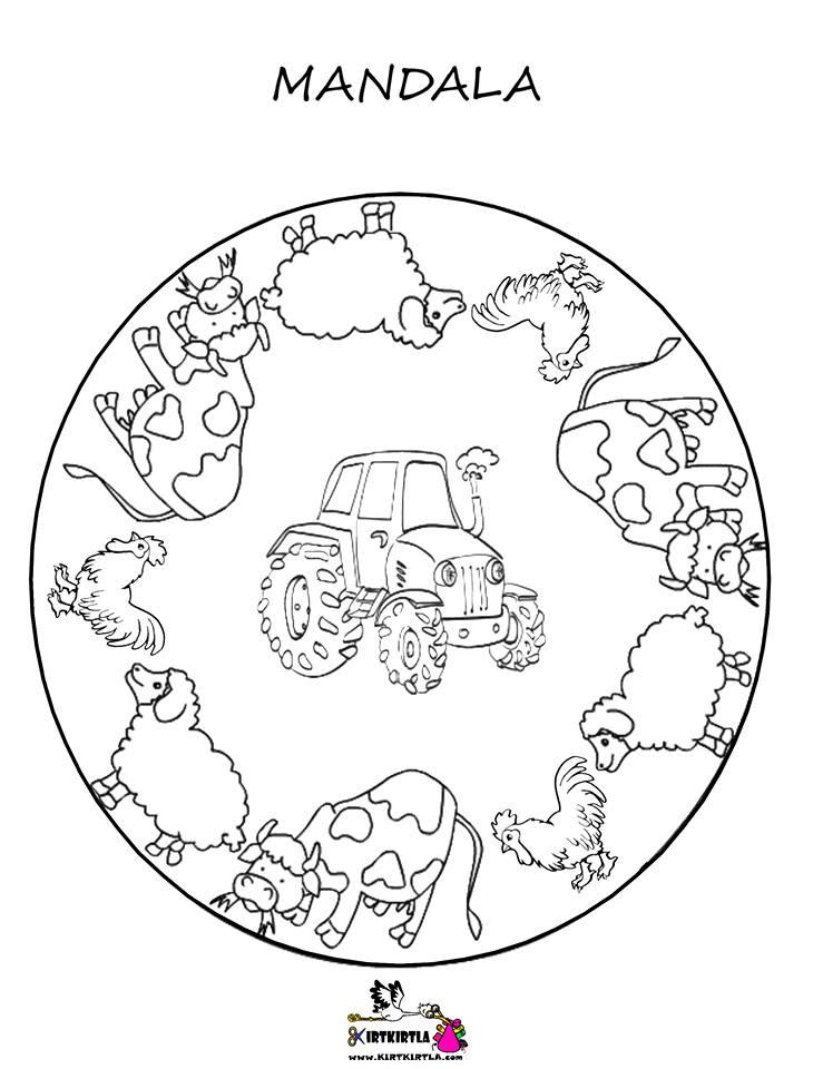 Mandala çiftlik Okul öncesi Etkinlik Kirtkirtla
