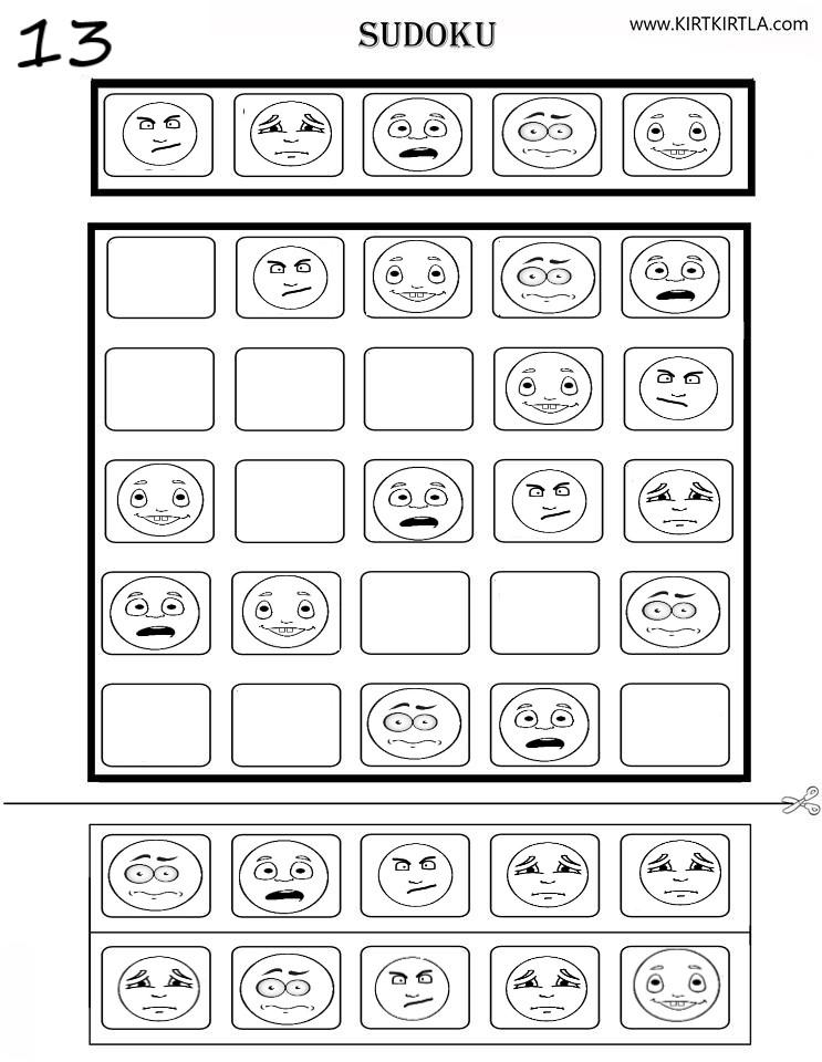 Sudoku 13 Okul Oncesi Zeka Gelistirici Calisma Sayfalari