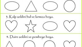 Okul Oncesi Boyama Sayfasi Kirtkirtla Yesil Renkli Sebze Ve
