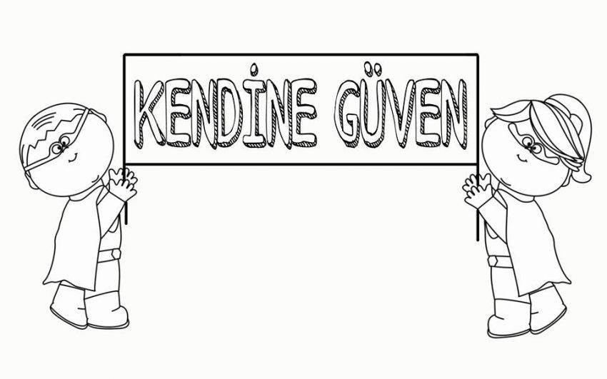 Kendine Guven Boyama Sayfasi Okul Oncesi Boyama Sayfasi