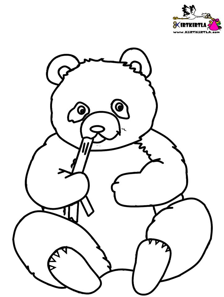 Panda boyama sayfası