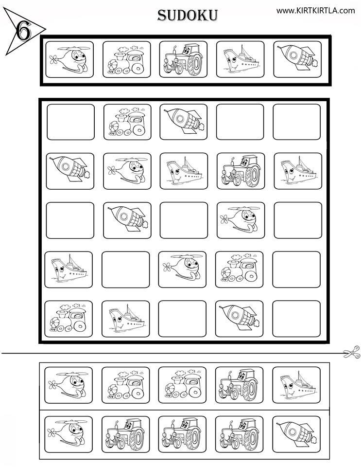 Sudoku 6 Okul öncesi Okuma Yazmaya Hazırlık çalışma Sayfaları Sudoku