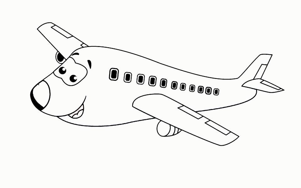 Uçak Boyama Sayfası Okul öncesi Boyama Sayfası Kırtkırtla