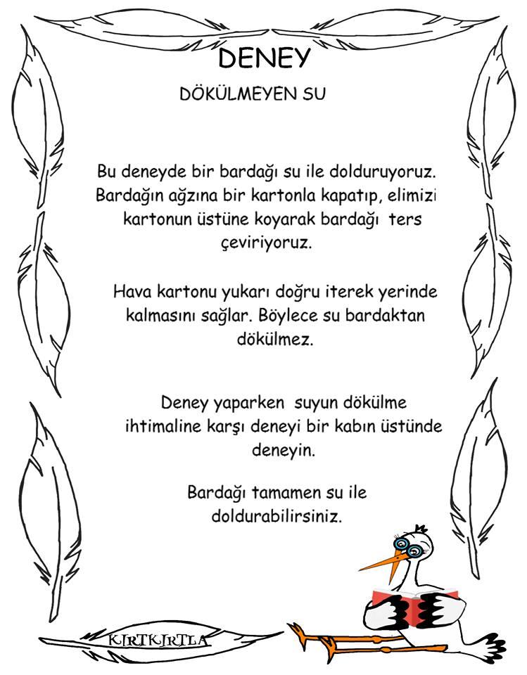 DÖKÜLMEYEN SU- OKUL ÖNCESİ_DENEY