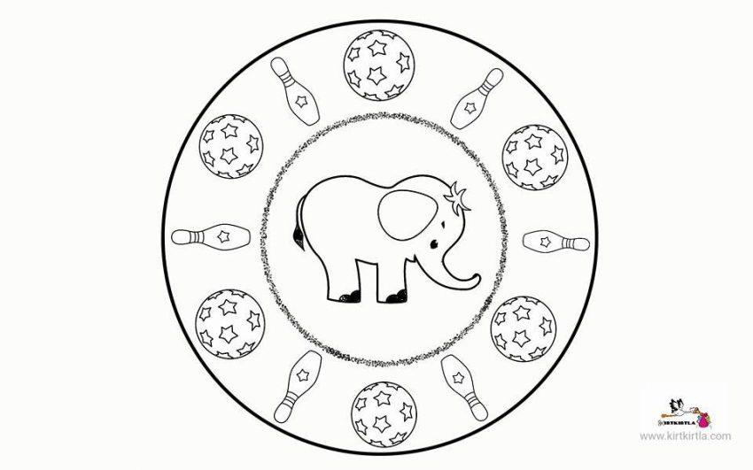 Fil Mandala Okul Oncesi Etkinlikler Kirtkirtla