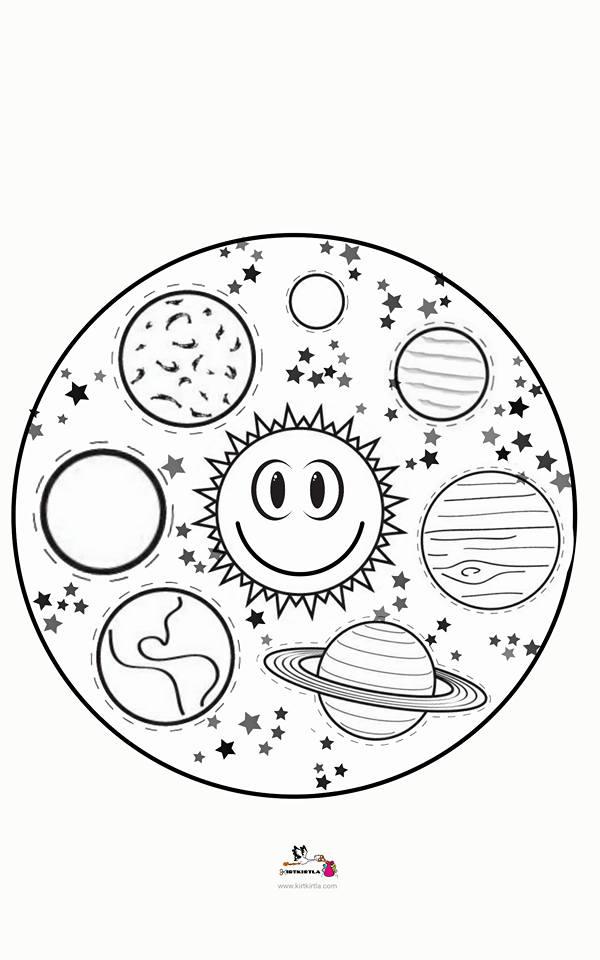 Gezegenler Mandala Okul öncesi Etkinlik Kirtkirtla