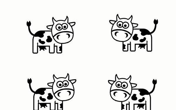 Okul öncesi Boyama Sayfası Kırtkırtla Inekler Boyama Sayfası