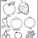 Okul öncesi Boyama Sayfası Kırtkırtla Mor Renkli Sebze Ve Meyveler