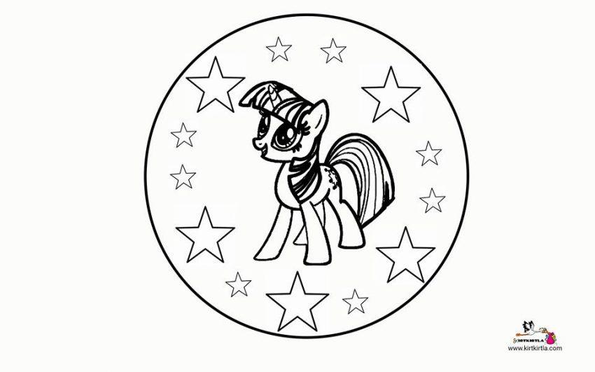 My Little Pony Mandala Okul Oncesi Etkinlik Kirtkirtla