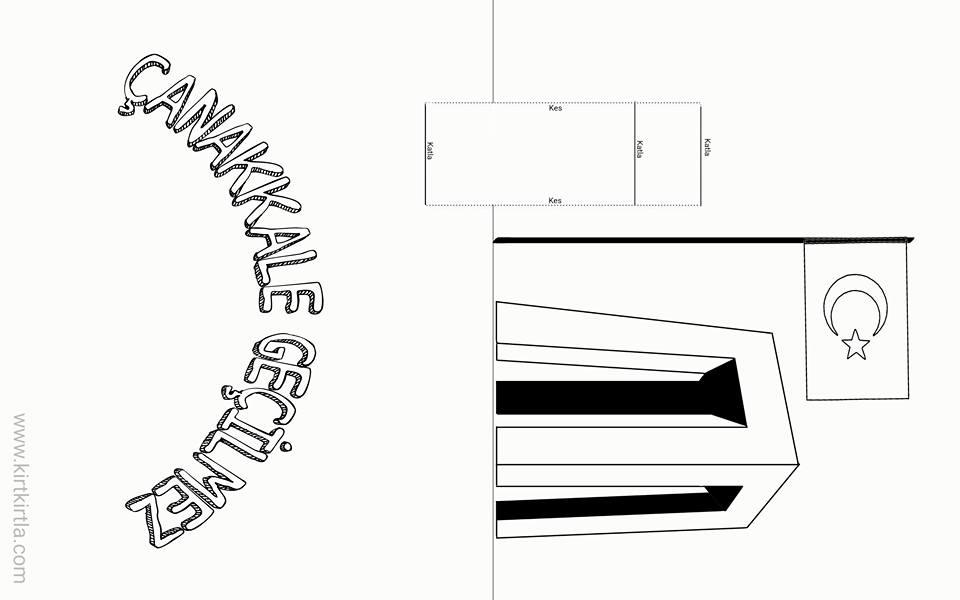 çanakkale Kart Kalip Okul öncesi Sanat Etkinliği örnekleri Kirtkirtla