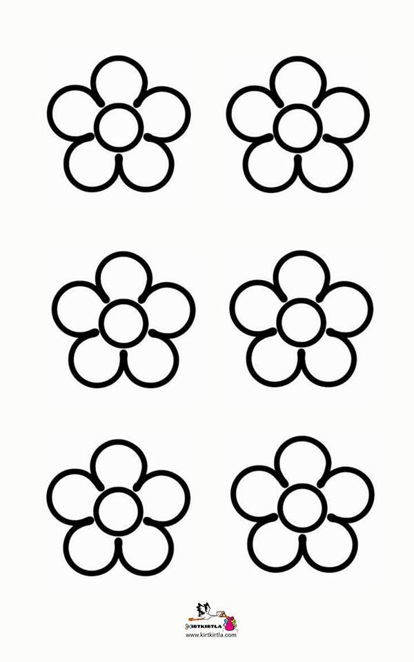 çiçek Kalıbı Okul öncesi Makas çalışmalarıcraft Preschool