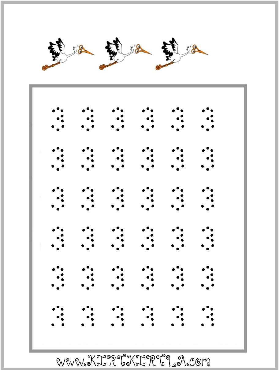 3 Rakami Kirtkirtla 3 Rakami çalişma Sayfasi