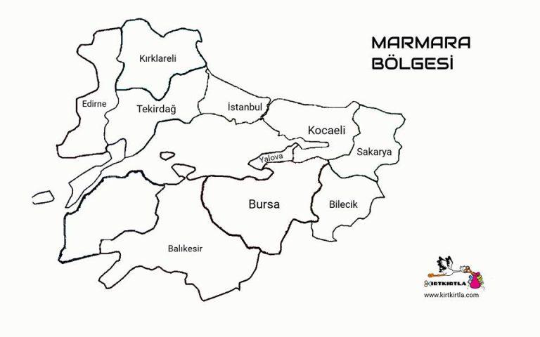 Marmara Bolgesi Turkiye Haritasi Bolgeler Haritasi Kirtkirtla