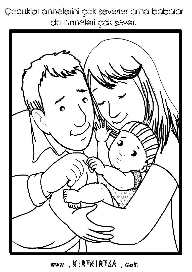 Anneler Günü Boyama Sayfasi Kirtkirtla Anneler Günü Boyama Sayfası