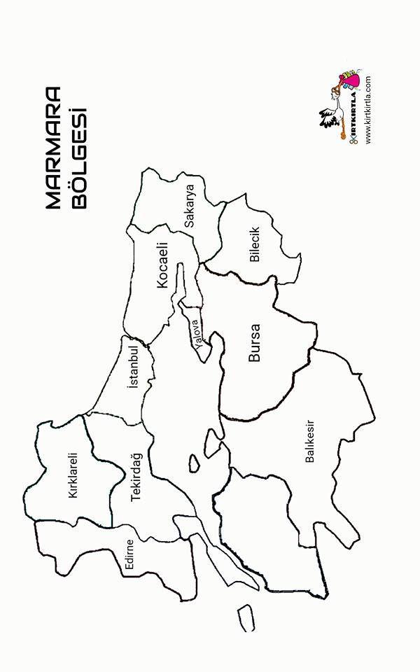 Marmara Bölgesi Türkiye Haritası Bölgeler Haritası Kırtkırtla