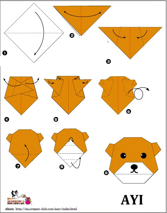 Ayi Kafasi Origami Kagit Katlama Kirtkirtla