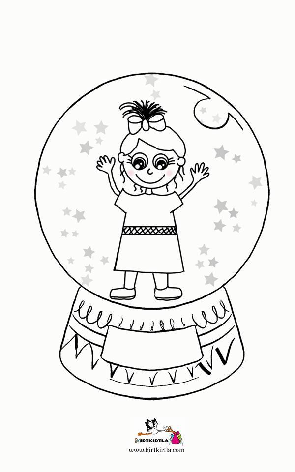 Kar Kristali Kiz Boyama Sayfasi Okul öncesi Boyama