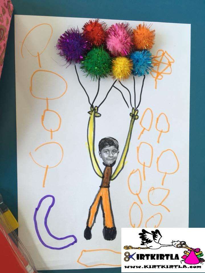 Ponponlu Etkinlik Okul Oncesi Sanat Etkinligi Ornekleri Kirtkirtla