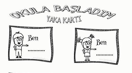 OKULA BAŞLIYORUM _ YAKA KARTI
