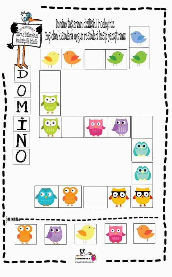 Domino Calisma Sayfasi 10 Okul Oncesi Okul Oncesi Etkinlik