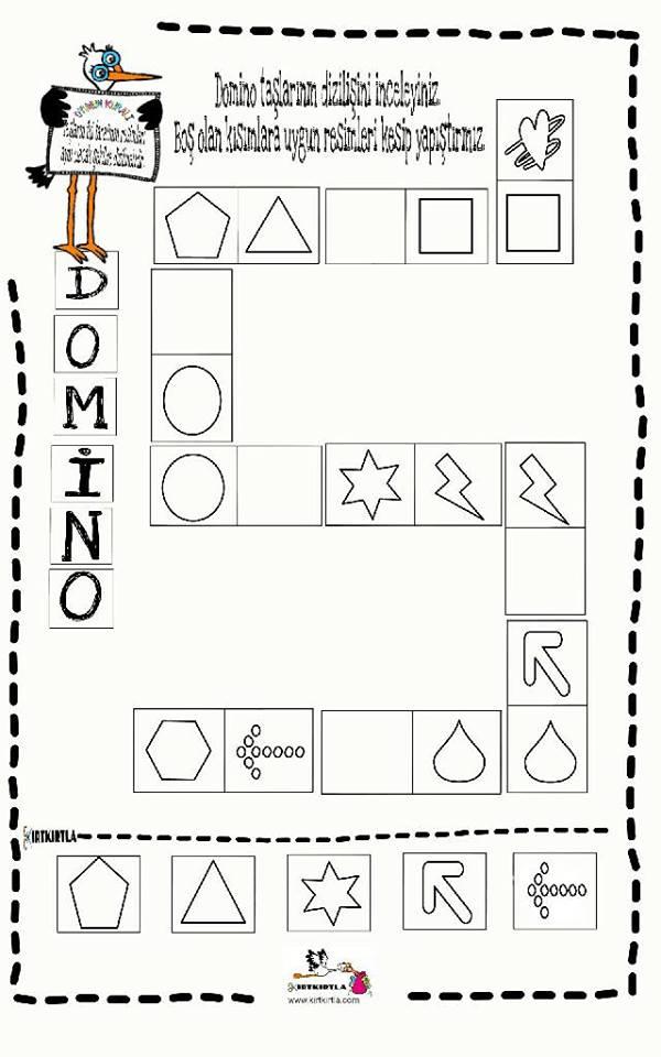 Domino Calisma Sayfasi 6 Okul Oncesi Okul Oncesi Etkinlik