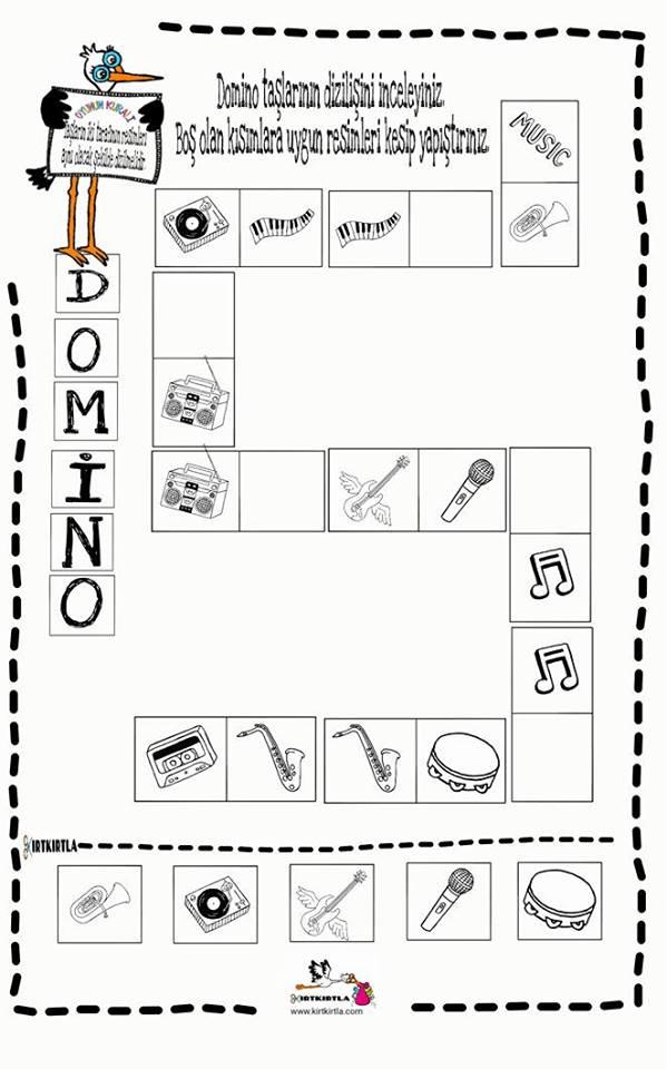 Domino çalışma Sayfası 8 Okul öncesi Okul öncesi Etkinlik