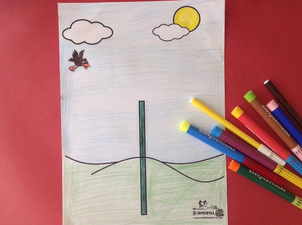 okul öncesi sanat etkinliği ayçiçeği makas çalışmaları kesme KIRTKIRTLA 611jpg - AYÇİÇEĞİ SANAT ETKİNLİĞİ