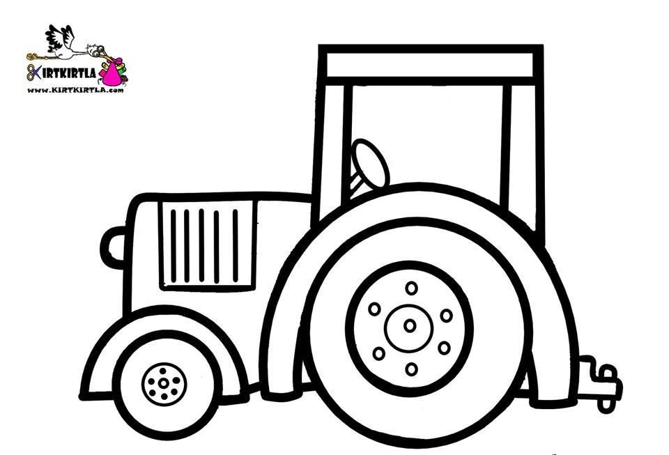 Traktör Kirtkirtla Traktör Boyama Sayfası Kirtkirtla