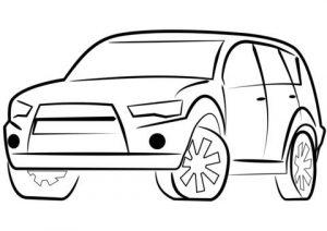 Araba Boyama Sayfası Okul öncesi Preschool Kırtkırtla