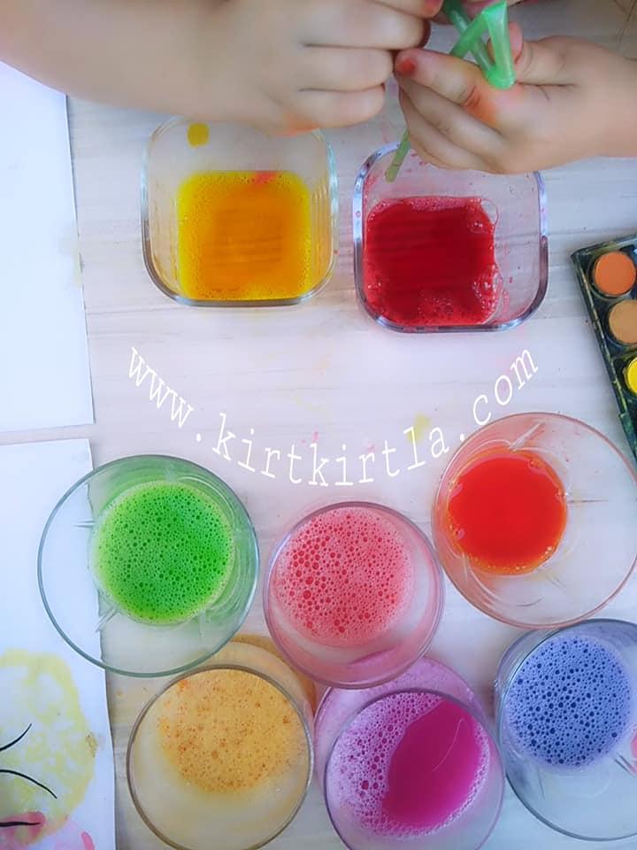 baloncukla boyama _ okul öncesi etkinlik , kırtkırtla