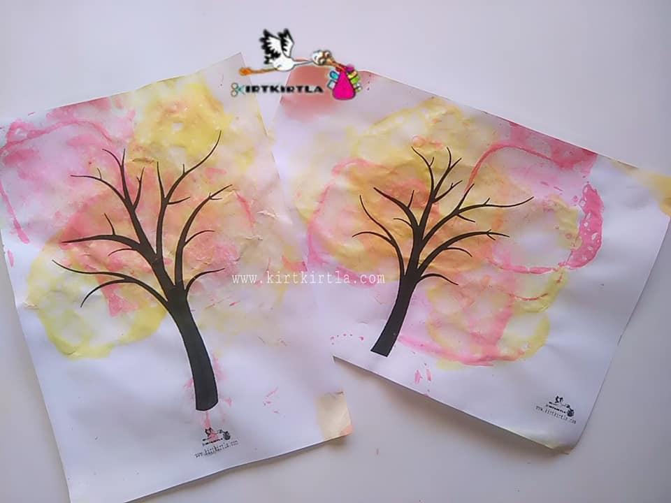 Agac Govdesi Boyama Okuloncesi Coloring Free To Print
