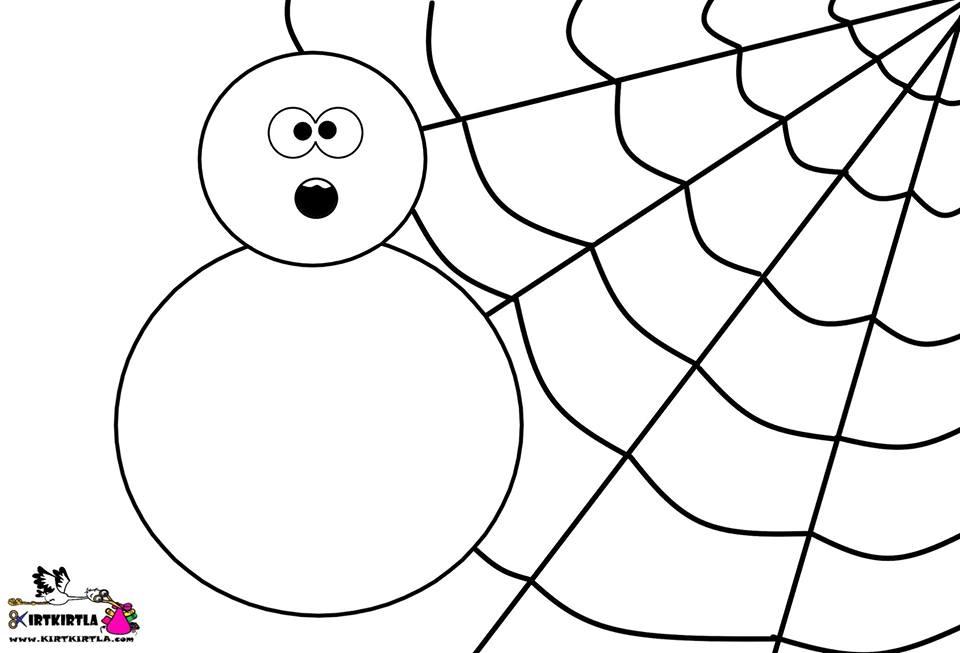örümcek Boyama Sayfası Kirtkirtla örümcek Boyama Sayfası