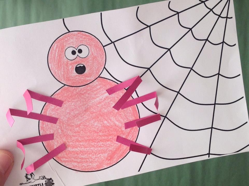 örümcek Kirtkirtla örümcek Sanat Etkinliği