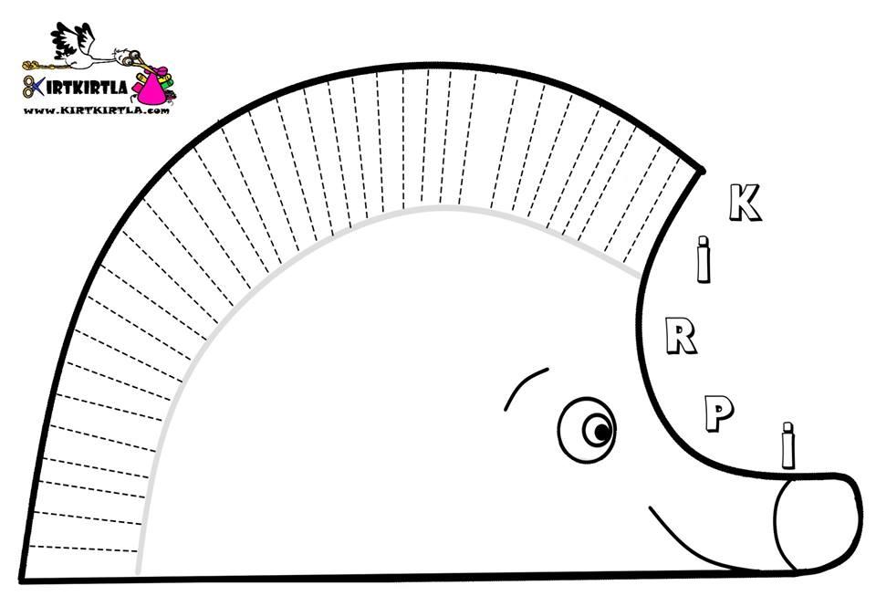 Kirpi Boyama Sayfası Okul öncesi Preschool Kırtkırtla