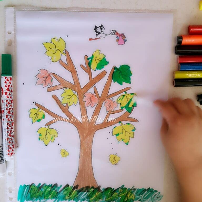 okul öncesi sonbahar etkinliği çocuklar için 2 KIRTKIRTLA - SONBAHAR AĞACI