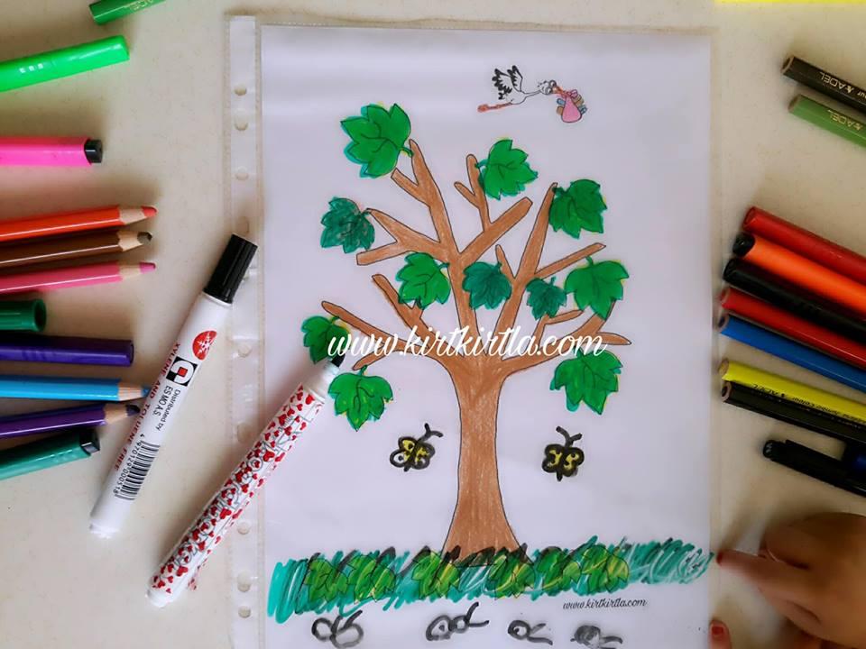 okul öncesi sonbahar etkinliği çocuklar için 3 KIRTKIRTLA - SONBAHAR AĞACI