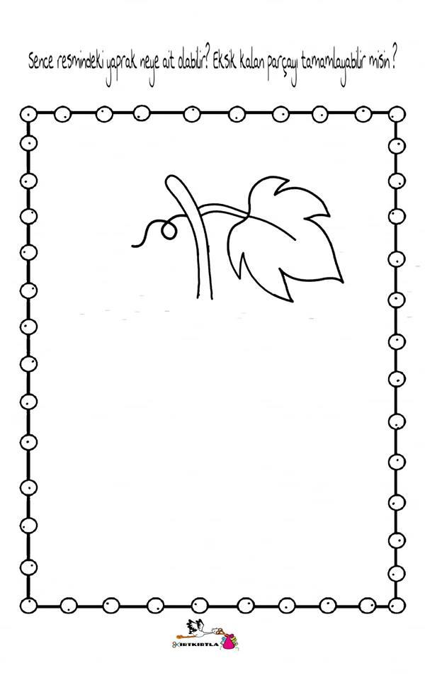 Resmi Tamamla Okul öncesi Etkinlik Boyama Sayfası Preschool