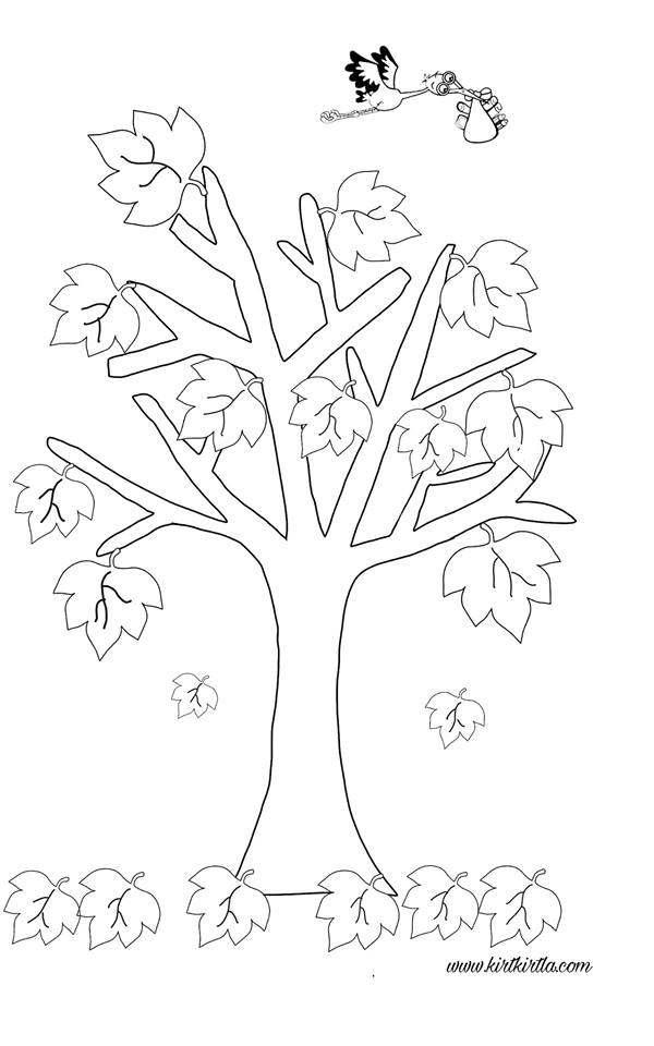 Sonbahar Ağaci Kalip Kirtkirtla