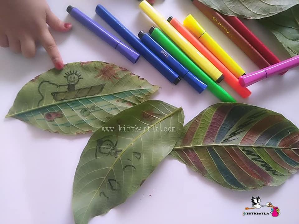 Yaprak Boyama Naturel Activities Okul öncesi Etkinlik Preschool